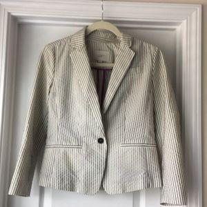 Loft pinstriped blazer